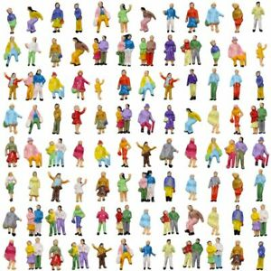 P200W 100pcs Model Trains 1:200 Scale Painted Figures Z Scale