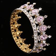 1 Pieza de Corona Tiara Crystal Boda Joya Nupcial Diadema de Cabello