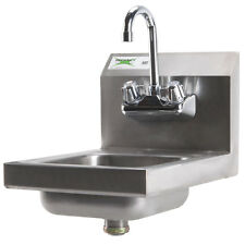"""Regency 12"""" x 16"""" Wall Mounted Stainless Steel Hand Sink with Gooseneck Faucet"""