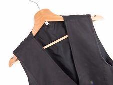 jy2578 Vintage Chaleco Camiseta Original PREMIUM Cuero Antiguo Negro Talla 40
