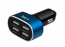 Quad USB In Car Charger 8 Amp Fast Four Way Port for Apple Android Phone Tablet