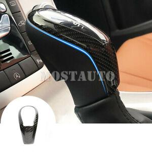 For Volvo S60 V60 Carbon Fiber Center Console Gear Shift Knob Cover 2012-2017