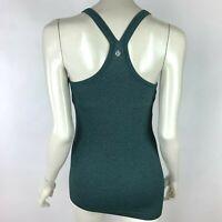 Lululemon Power Y Tank Top Built in bra Stretch Gym Yoga Run Workout Women 6