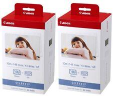 2x canon kp-108in papel + cinta! 216 imágenes en 10x15 F. selphy cp810, cp900