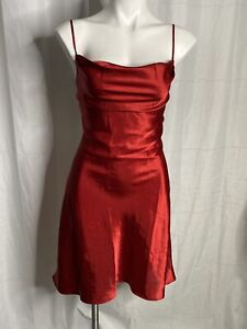 La Vie En Rose Red Silly Slip Dress Backless Size Med Sexy