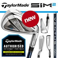 TaylorMade SIM 2 Max Men's Irons Graphite Fujikura VENTUS Blue - NEW! 2021