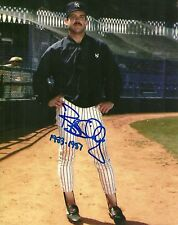 BOB SHIRLEY NEW YORK YANKEES SIGNED AUTO 8x10 PHOTO W/COA 1983-1987 W/JACKET