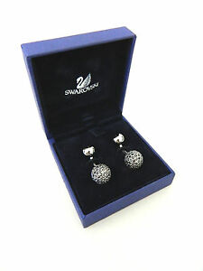Mens Swarovski Silver Tone Crystal Disco Ball Cufflinks in Box Cuff Links