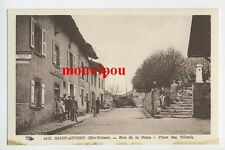 CPA - Saint Auvent (Haute Vienne) - Rue de la Poste - Place des Tilleuls