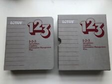 "Lotus 123, Version 1A For DOS, Vintage Software, 5.25"" Disk, Rare, PC History UK"