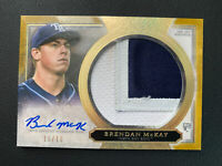 2020 Topps Five Star Brendan McKay Rookie Patch Auto #10/10! BOOKEND! Tampa Bay