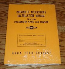 1951 Chevrolet Accessories Installation Manual Car & Truck 51 Chevy