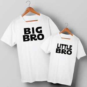 Big Bro & Little Bro - Brothers Two Matching T-shirts Set - All Sizes 1 years+