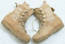 Beige Work Boots 6 Women's Woman's Casual Six Lace Up Leather Upper Vibram Soles