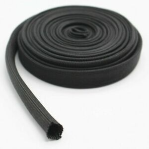Automotive Thermal Protection Hose Cover  Wire Braided Sleeve Pipe Black 1 M