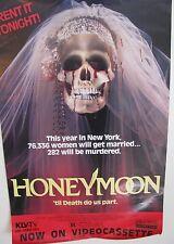 HONEYMOON Original 1985 Horror video promo poster Nathalie Baye RARE