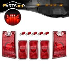 5xRed Cab Marker Roof Running Top Lights w/Bulbs for 2003-2009 Hummer H2 SUV SUT