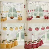 Winchester Kitchen Gingham Curtain Window Set Inc Valance & T/Backs Red / Yellow