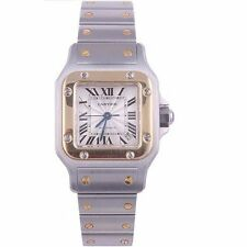 W111-Cartier Santos 18K Yellow Gold/Stainless Steel Automatic Ladies Watch 2423