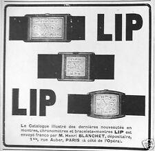 PUBLICITÉ 1927 LIP CATALOGUE DES NOUVEAUTÉS PAR HENRI BLANCHET - ADVERTISING