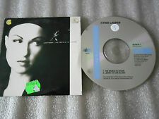 CD-CYNDI LAUPER-THE WORLD IS STONE-Learn to live alone-(CD SINGLE)-1992-2 TRACK