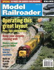 Model Railroader June 2002 DEISELS Layouts Scenery N scale signal bridge RR Exc.