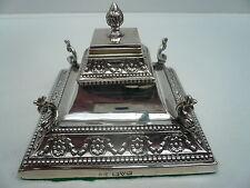 Pirámide de plata Tintero, Sterling, Diseño, Antiguo, Inglés, ley 1908