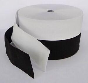 Superb Quality Woven Flat Elastic Black or White 1.5 -5cm width/1-30metre length