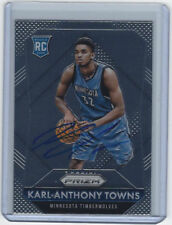 Karl-Anthony Towns Signed 2015-16 Panini Prizm #328 RC Auto Rookie (TOWNS COA)