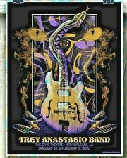 Trey Anastasio Band New Orleans 2020 Poster Lava Foil Ae Signed S/N #/25 Instock