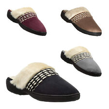 Isotoner Signature Women's Erica Woodlands Micro Suede Washable Clog Slippers