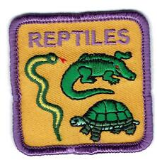 Girl Cub Boys REPTILES turtle snake lizardsFun Patches Crests Badges SCOUT GUIDE