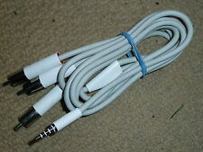 APPLE IPOD AV CABLE ADAPTER GENUINE OFFICIAL COMPOSITE TV LEAD M9765G 3.5mm RCA