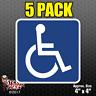 5 PACK Handicap Symbol Sticker Decal Car Window Vinyl Disabled Sign Wheelchair