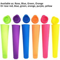 4/6Pcs Silicone Push Up Frozen Stick Ice Cream Pop Yogurt Jelly Lolly Maker Mold