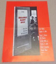 """""""Broadway Danny Rose"""" Woody Allen Mia Farrow Vtg 1984 Danish Press Release Kit"""
