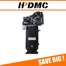 5hp Reciprocating Air Compressor 230v 1ph Asme 60 Gallon Vertical Tank 175psi