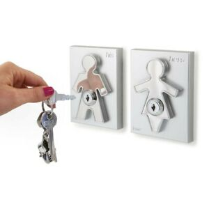 J-me - Couple His & Her Hanging Key Holders Stainless Steel