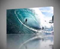 Wave Surfing CANVAS PRINT Wall Home Decor Giclee Art Poster CA894