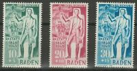 BADEN FRENCH OCCUPATION Mi. #50-52 mint MNH stamp set! CV $45.50