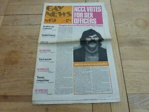 1974 RARE UK GAY NEWS NEWSPAPER No 69 24 PAGES COMPLETE