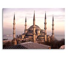 120x80cm Leinwandbild auf Keilrahmen Blaue Moschee Istanbul Türkei