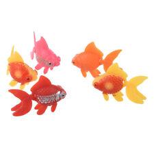 5 pezzi di plastica artificiale ornamento acquario di pesci - pesci rossi T7S6