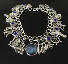 Once Upon A Time Charm Bracelet, Storybrooke, Emma Swan, Captain Hook