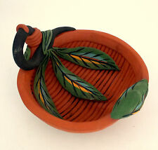 TERRA COTTA BASKET BOWL CLAY COIL STUDIO HANDCRAFTED POTTERY SCULPTURE