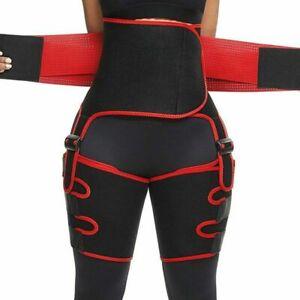 4 in1 Thigh Trimmer High Waist Trainer Body Shaper Butt Lifter Fitness Burn Belt