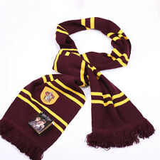 Harry Potter Gryffindor House Knit Wool Scarf Wrap Soft Warm Costume Cosplay