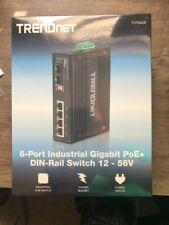 Trendnet 6-Port Hardened Industrial Gigabit 10/100/1000 Mbps Ultra PoE Din-Ra.