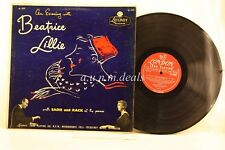 "An Evening With Beatrice Lillie with Eadie and Rack at the Piano, Record 12"" VG"