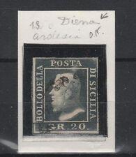 FRANCOBOLLI 1859 SICILIA 20 GR. Z/3496